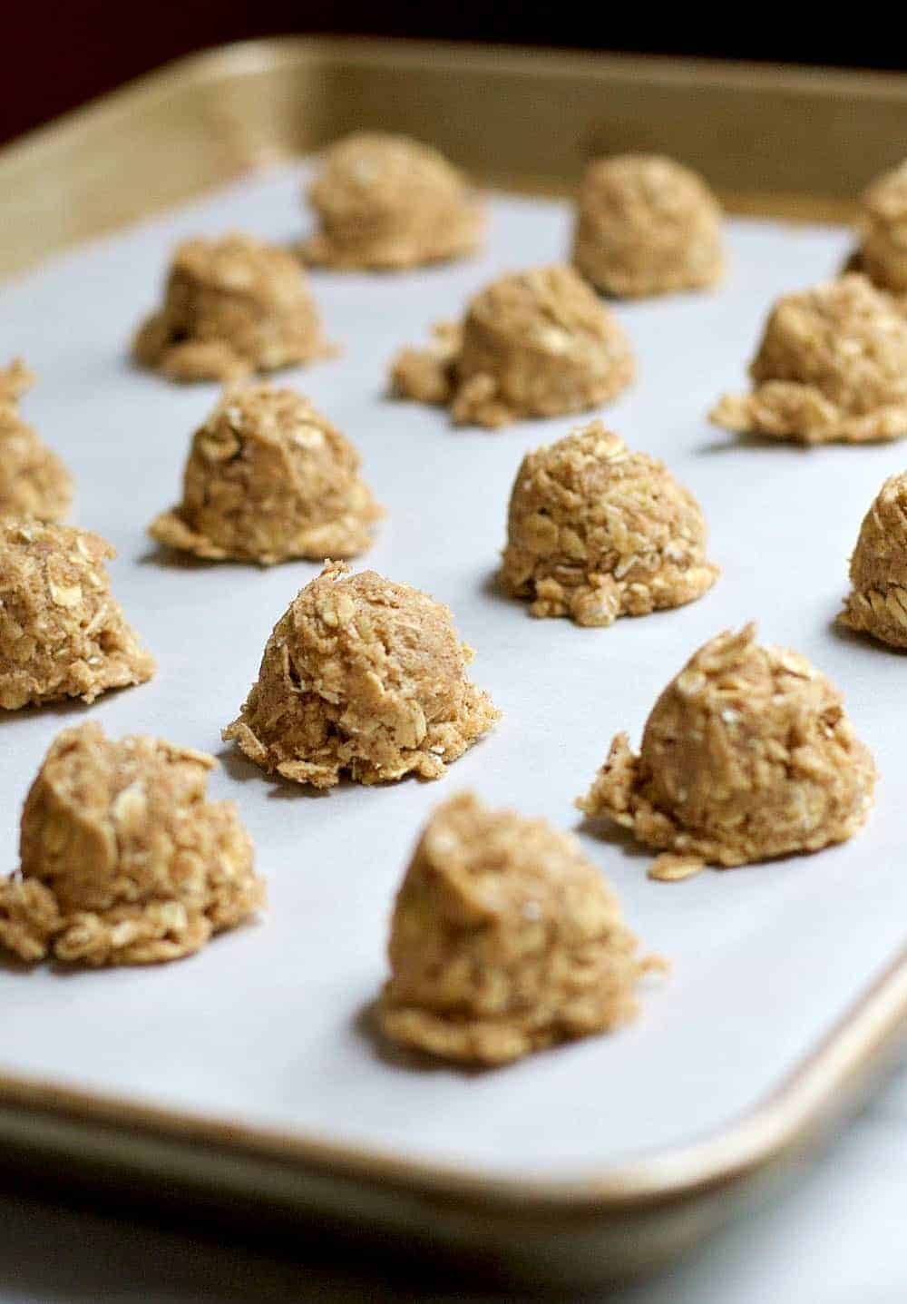 Oatmeal Cookies Ready to Bake