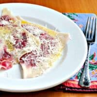 Beet Ravioli with Butter and Poppy Seeds