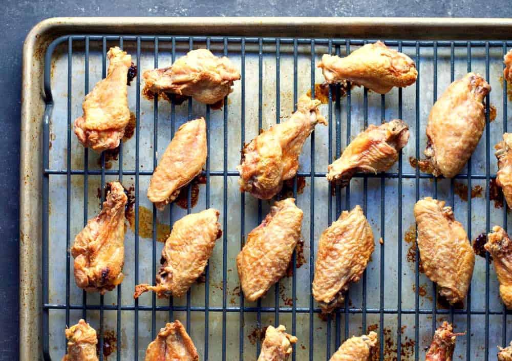Cornstarch Coated Chicken Wings baked crispy