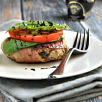 Prosciutto Wrapped Lamb Burgers with Sun-Dried Tomatoes and Pecorino