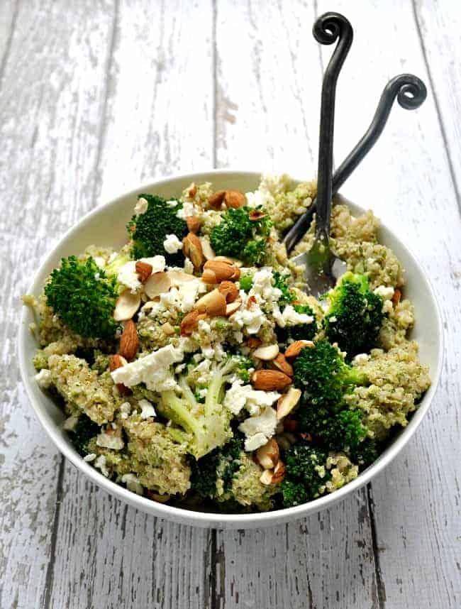 Quinoa-Broccoli-Almond-Broccoli-Pesto-Feta
