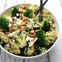 Quinoa-Broccoli-Almond-Pesto-Feta
