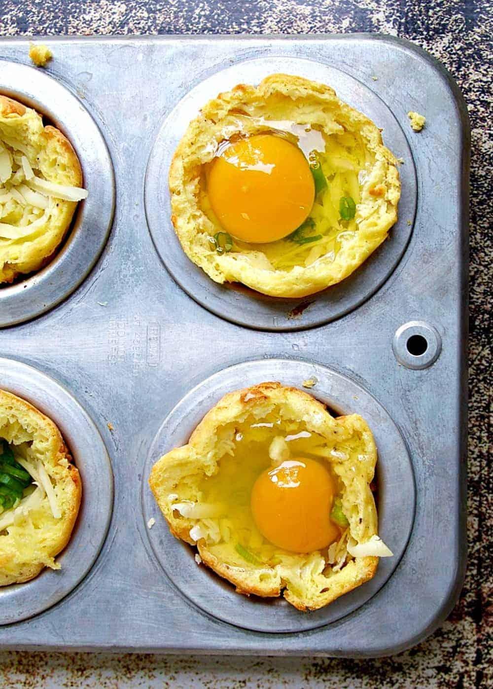 Gougere Baked Eggs
