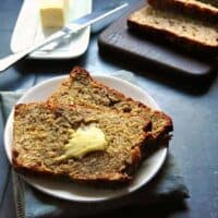 Banana Oat Bread with Butter sq
