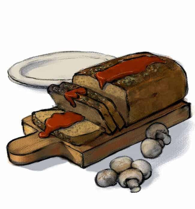 Turkey Meatloaf Cartoon