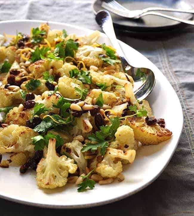 cauliflower with pine nuts recipes