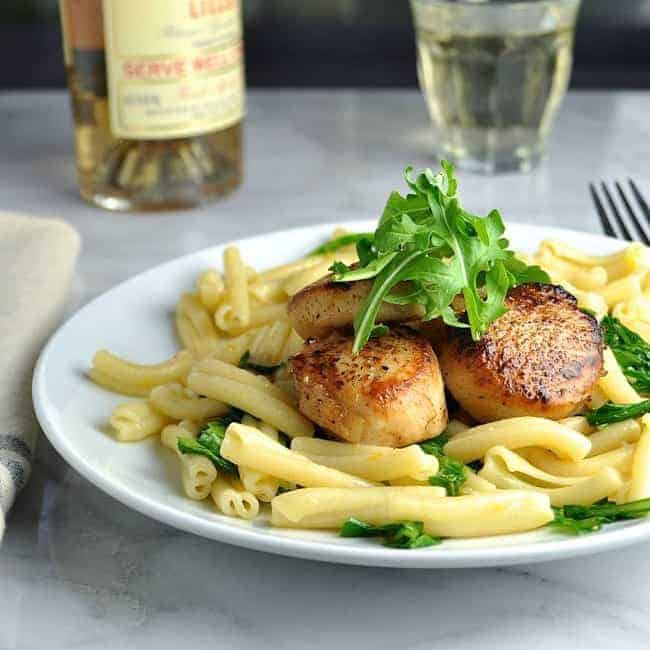 ... with Pasta Arugula and Meyer Lemon Butter Sauce - Pinch and Swirl