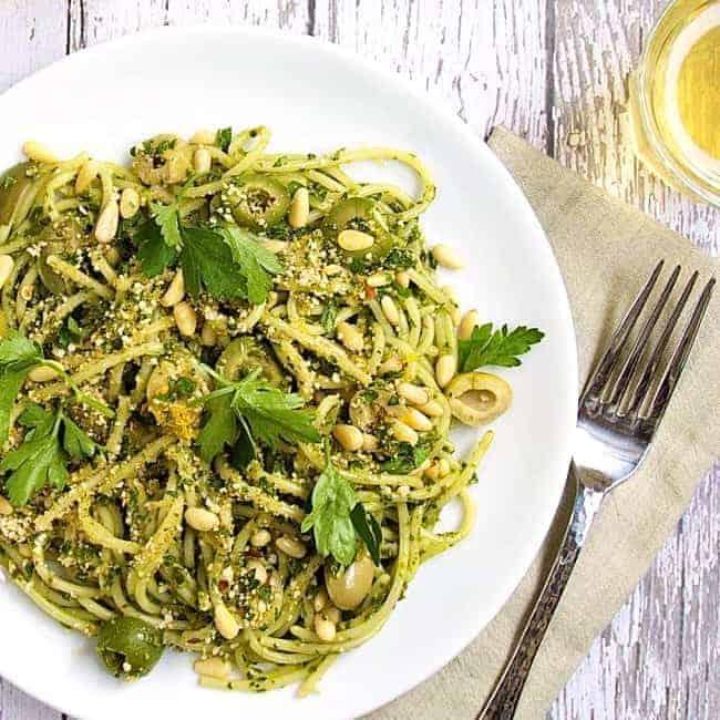 Scallops arugula pasta recipe
