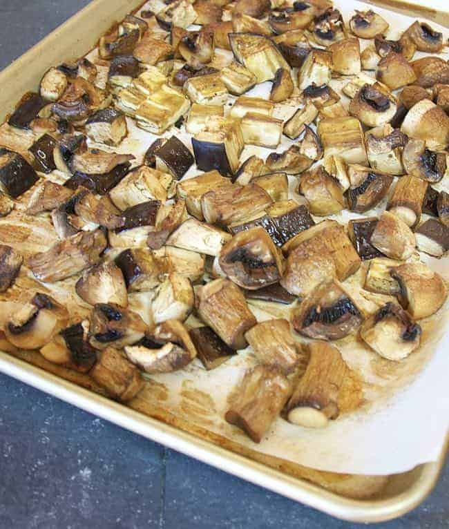 Roasted Eggplant and Mushrooms