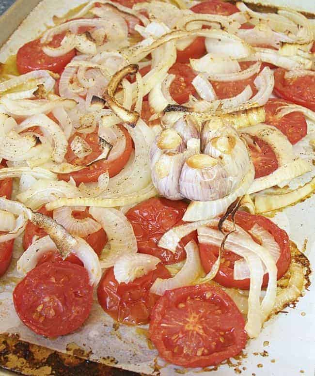 Roasted Tomato Onion and Garlic