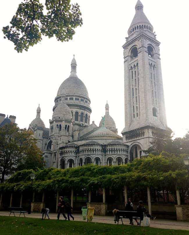 Behind Sacre Coeur