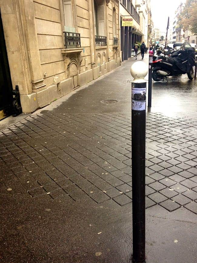 sidewalk post