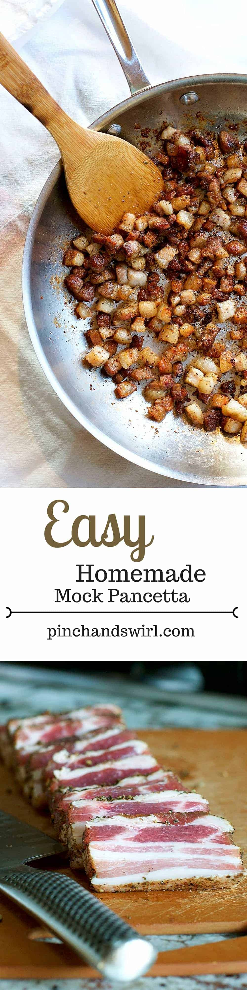 Easy Homemade Mock Pancetta! The secret is the dry brine... #recipe #bacon #easyrecipe