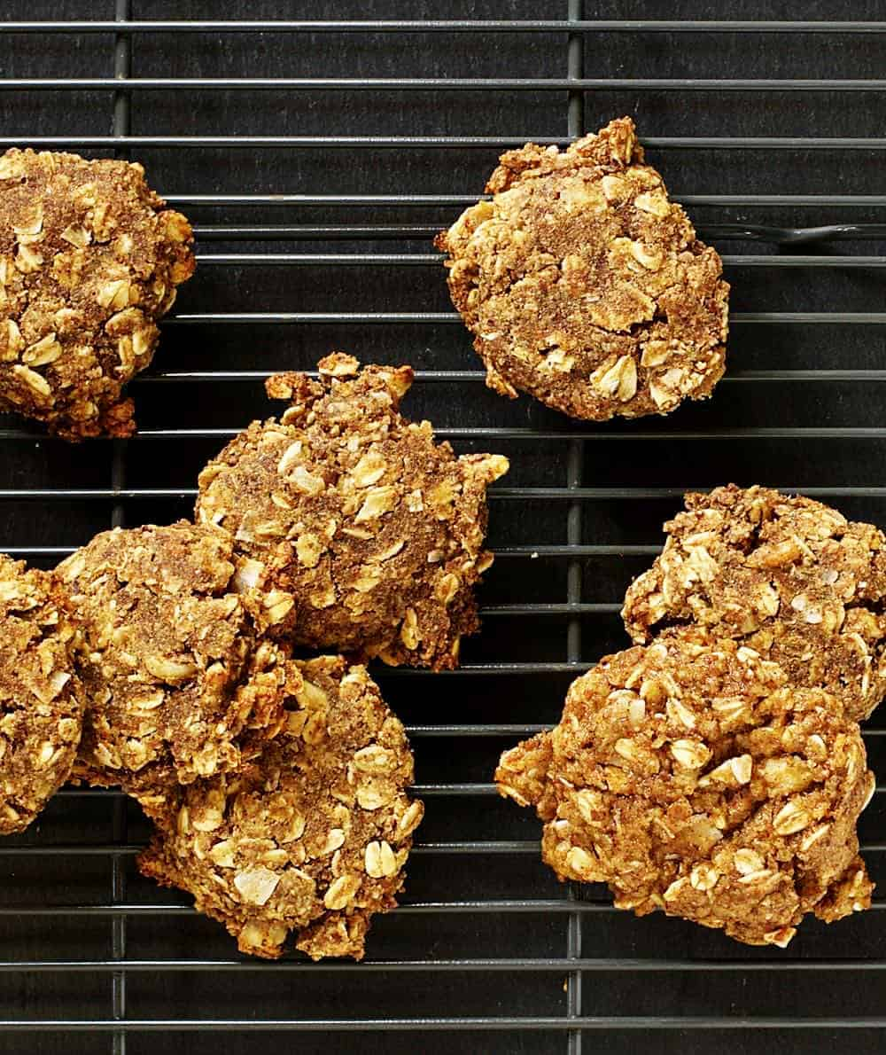 Banana Oatmeal Cookies cooling