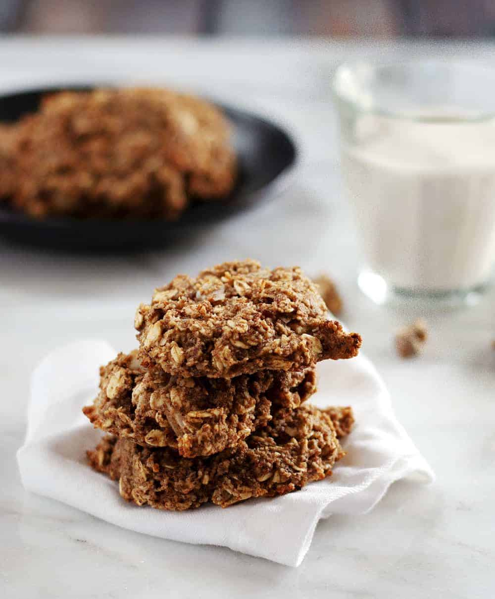 Banana Oatmeal Cookies stacked