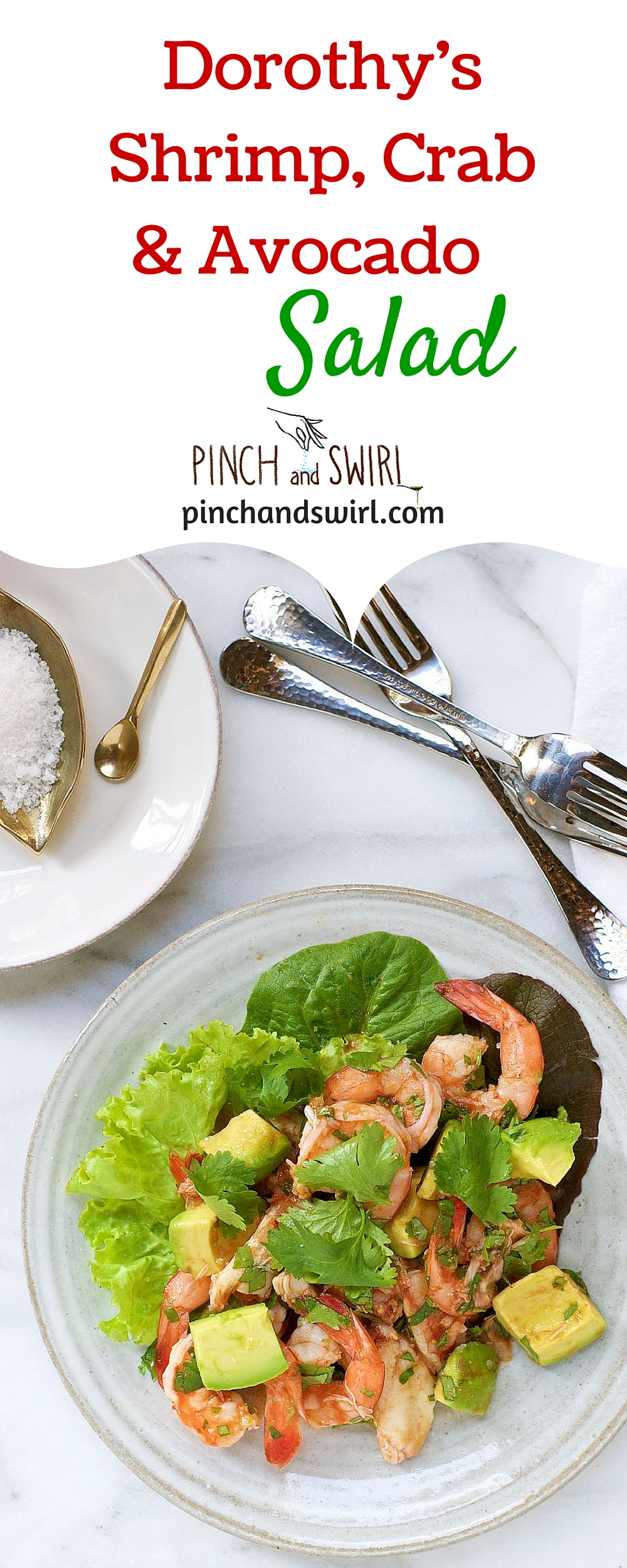 Dorothys Shrimp Crab and Avocado Salad - the perfect partner to everything you'll be grilling this summer! #salad #healthyrecipes #avocado #seafood #shrimp #appetizers