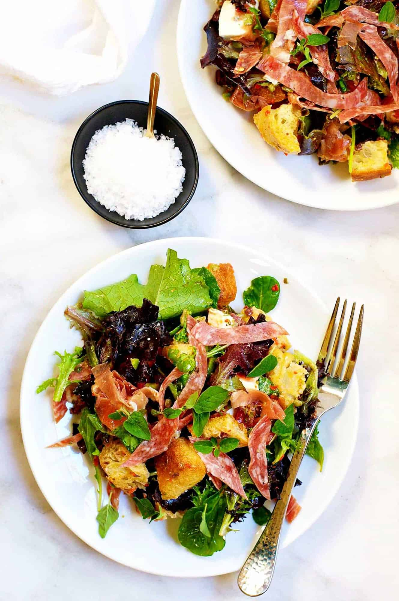 Muffuletta-Panzanella-bread-salad-photo from-above