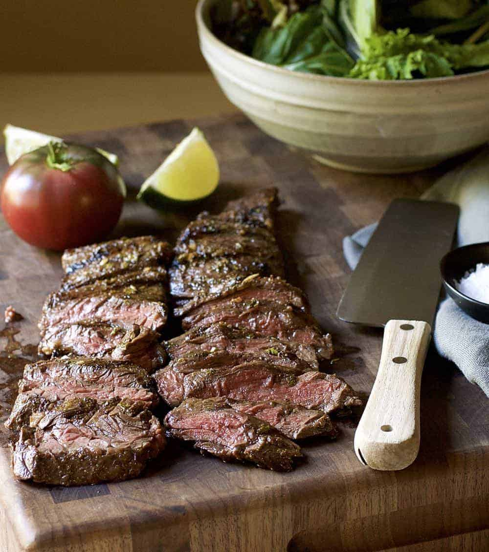 Grilled Carne Asada Recipe - Pinch and Swirl