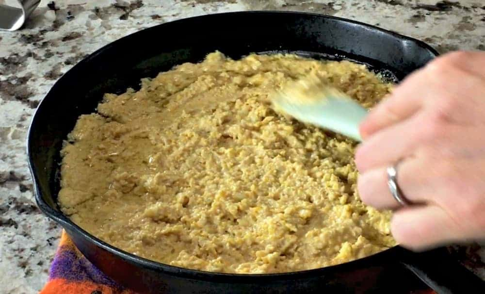 Spread Batter with Spatula