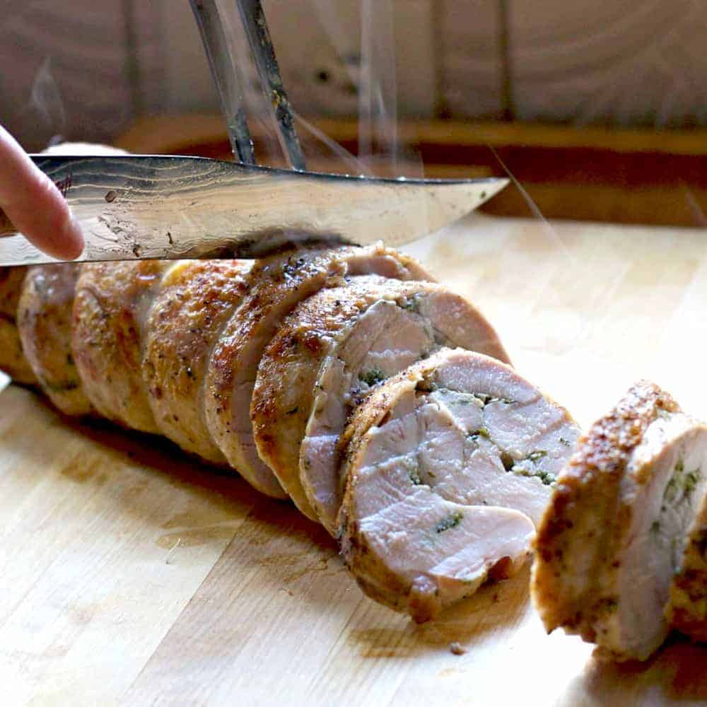 Turkey Roulade With Garlic And Herbs