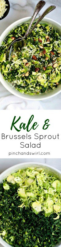 Kale and Brussels Sprout Salad is an easy and healthy recipe that's also incredibly delicious!