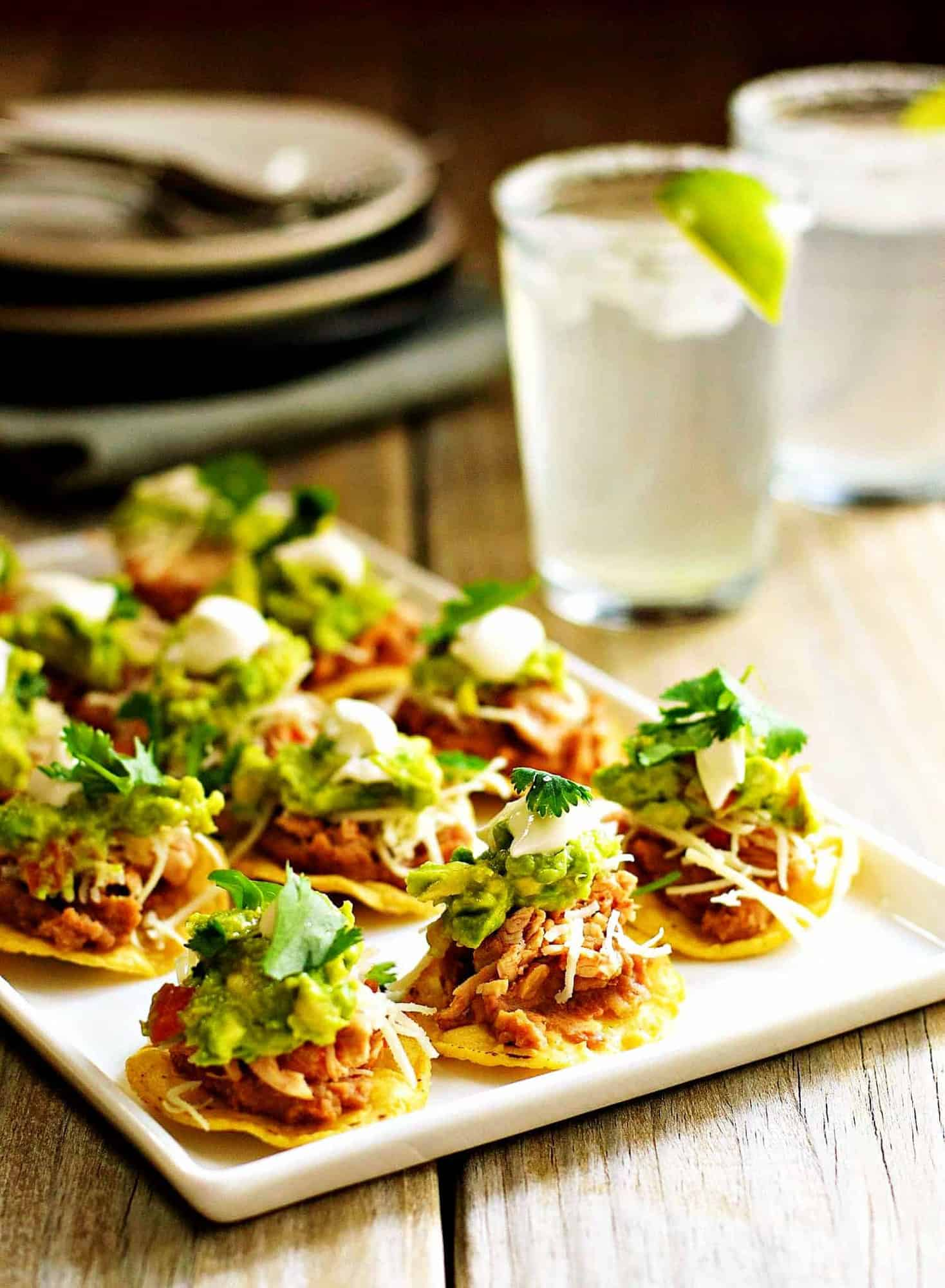 Mini-Chicken-Tostadas-served on-a-platter