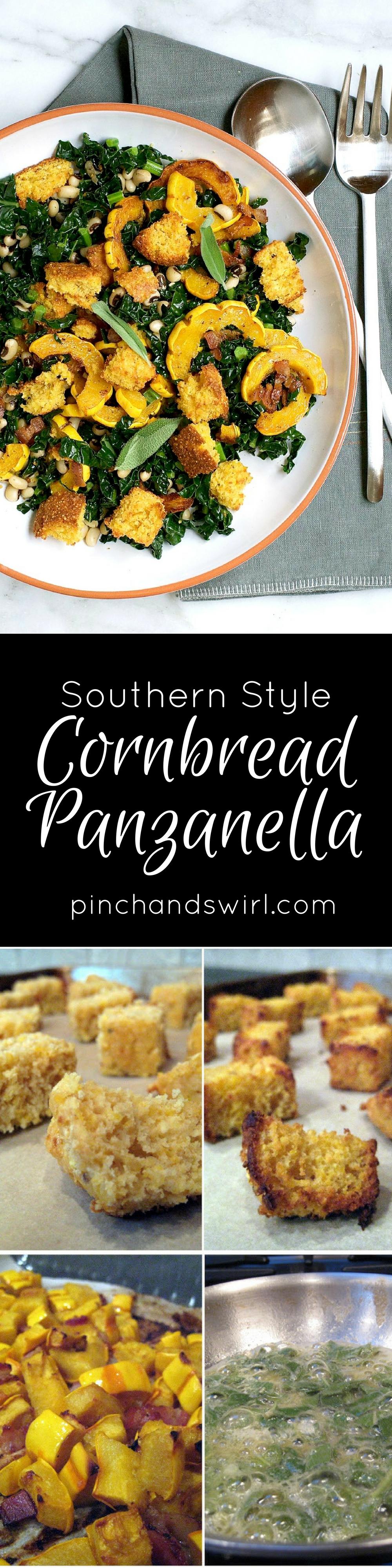Souther Style Cornbread Panzanella - Panzanella Salad Recipe | Bread Salad Recipe