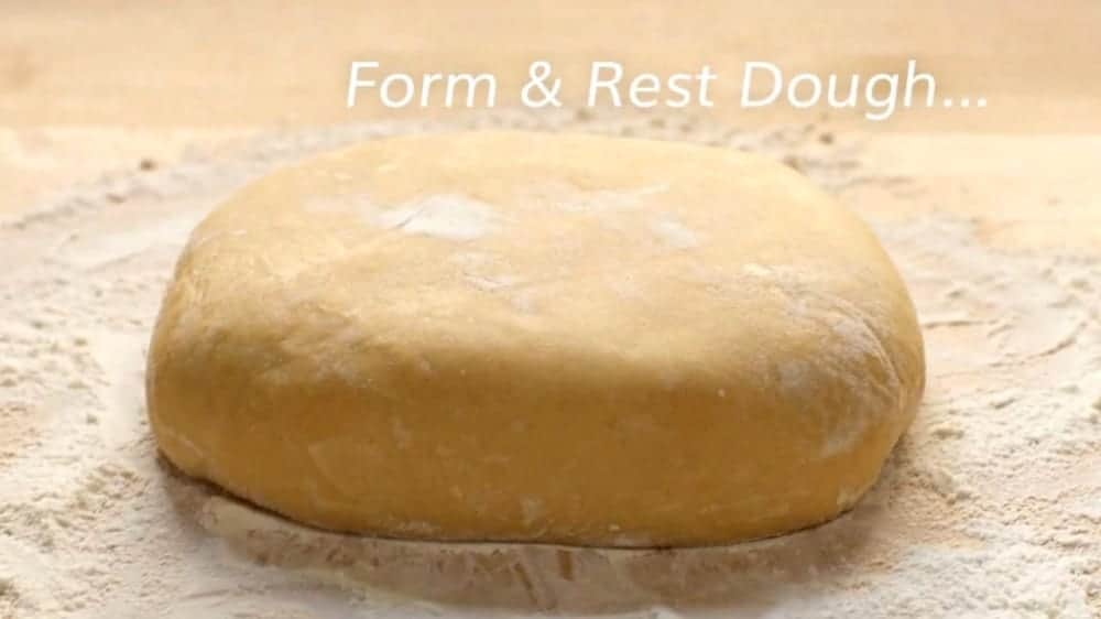 form and rest ramen noodle dough
