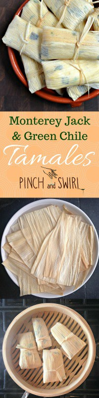Green Chile and Cheese Tamales are my absolute favorite flavor of homemade tamale! With a tender outer layer of masa harina, creamy Monterey Jack cheese, smoky green chiles and the crunch and sweetness of fresh corn, they're irresistible! Fresh tamales are fun to assemble, cook in just minutes and freeze beautifully too.