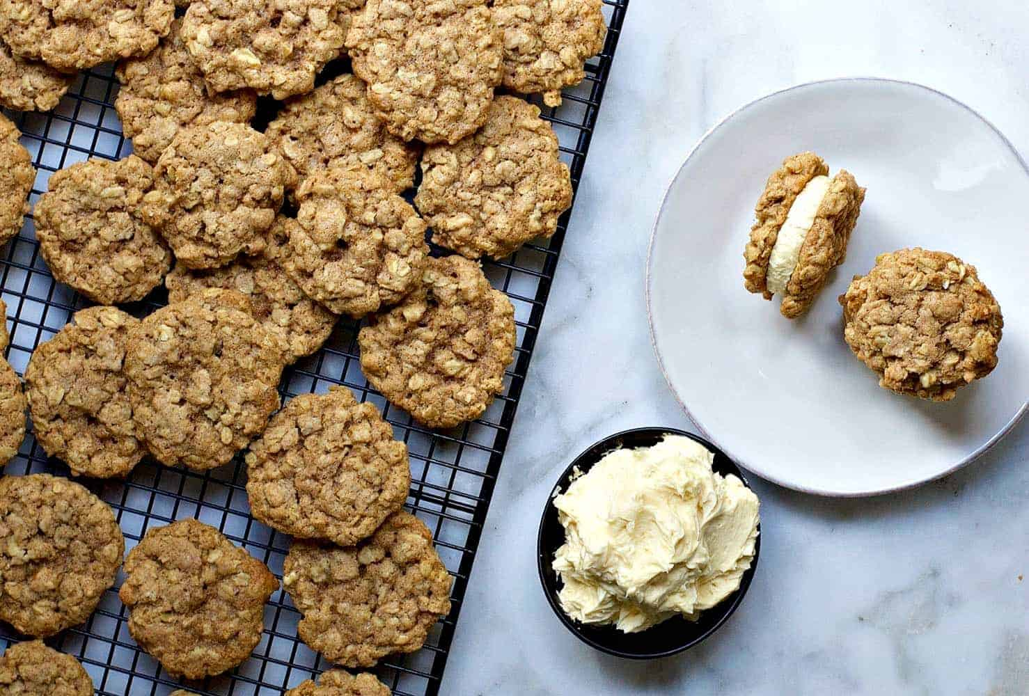 Oatmeal Sandwich Cookie Assembly