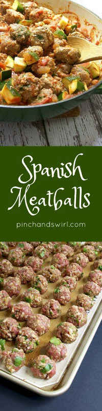 Made with just eight ingredients, these Spanish Meatballs are hearty, delicious and so versatile! This Spanish Albondigas recipe is the only one you'll need for soups, burrito bowls and more.
