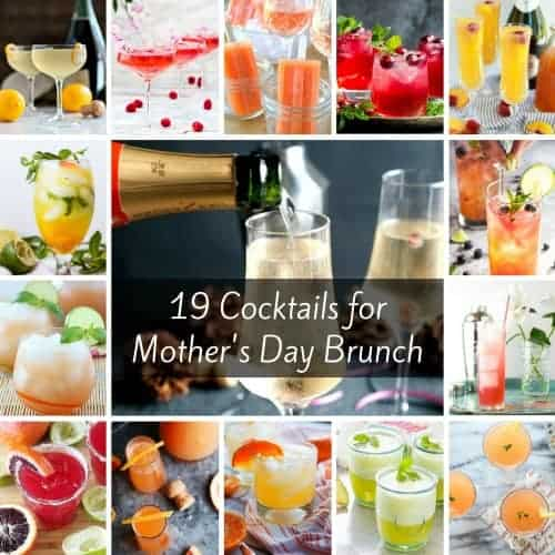 If you're looking for Mother's Day Brunch Cocktail ideas, here are 19 beautiful options: bubbly, spicy, herbal, floral, sweet, fruity! Which one will your mom like best?