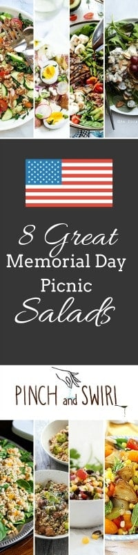 If you're searching for Memorial Day Food ideas, I've got you covered! Here are 8 delicious salad recipes that are perfect for a picnic!