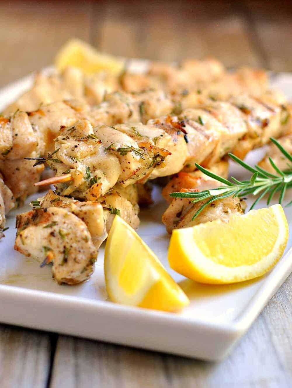 Rosemary Garlic Chicken Kabobs