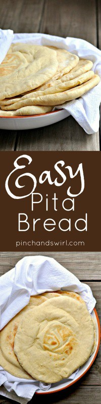 If you've wondered how to make homemade pita bread, this is it! Follow this super simple pita bread recipe and you'll have toasty warm, perfectly puffed pitas to stuff with your favorite sandwich ingredients, dip into hummus or roll into a gyro or shawarma.