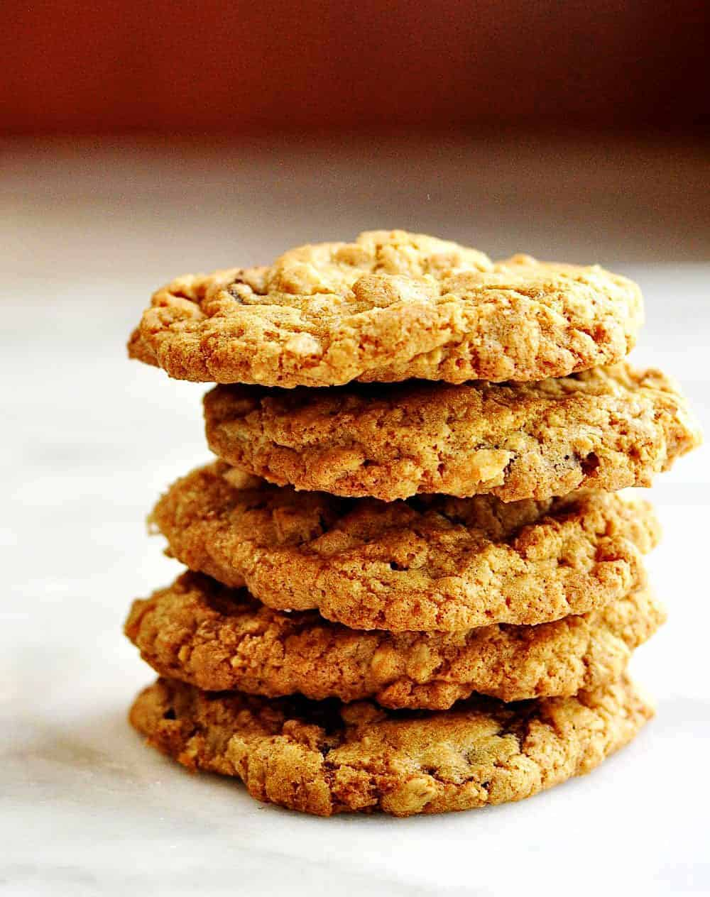 Cowboy-Cookies in a stack