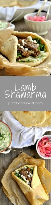 If you've eaten a lamb shawarma from a Mediterranean restaurant, you might think they're too complicated to make at home. I'm here to convince you otherwise! Every component of these pita bread sandwiches is simple to make and delicious on its own, but combine them and you'll have a spectacularly delicious meal.