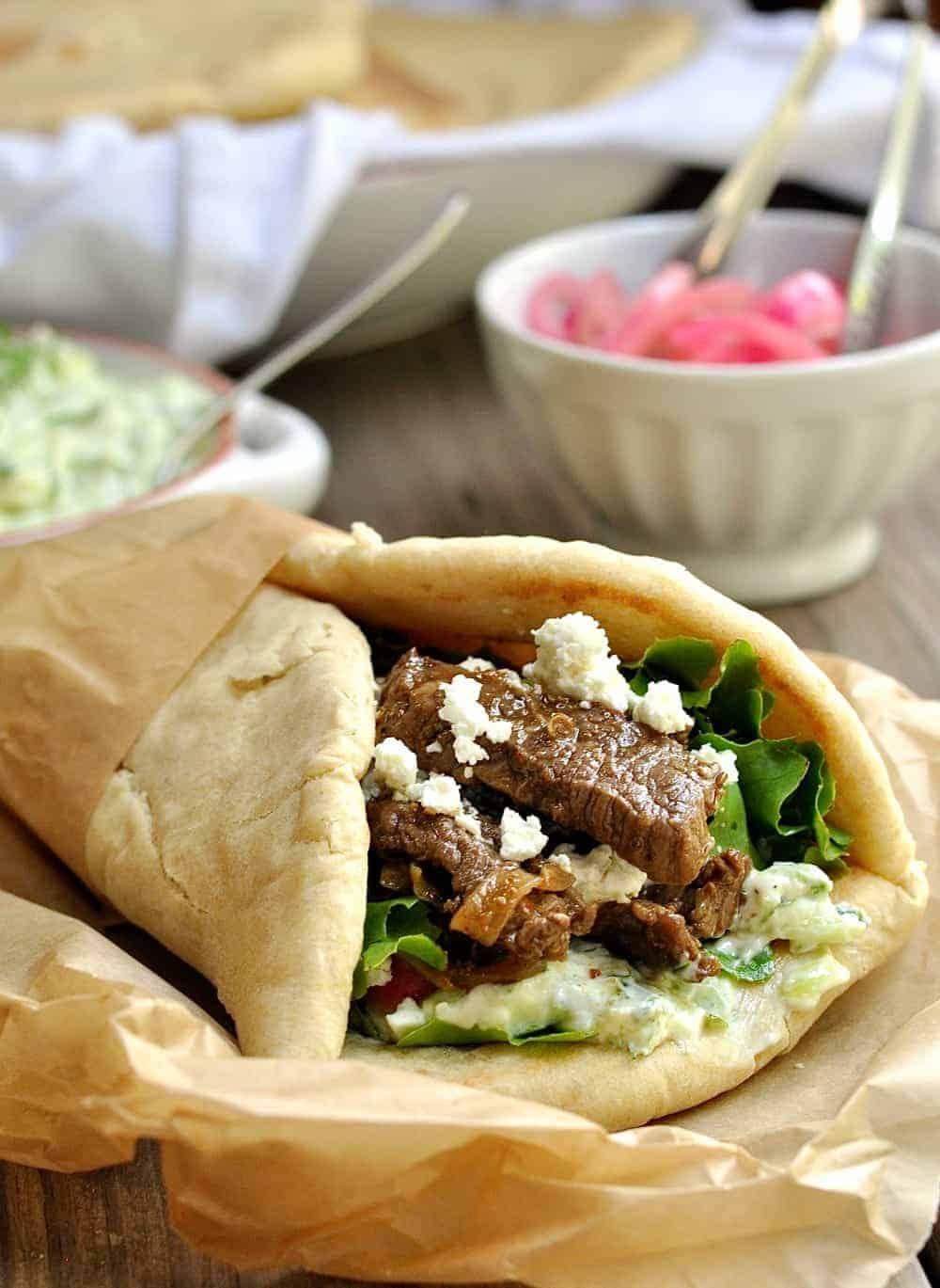 Easy recipes to make homemade lamb shawarma.