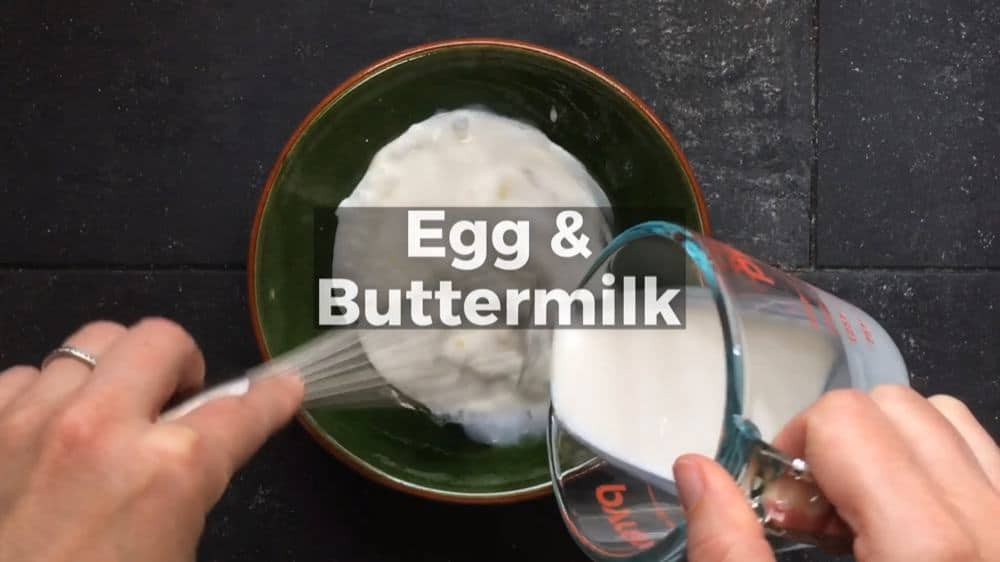 Combining Egg and Buttermilk