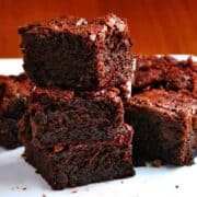 Dark-Chocolate-Beet-Brownies stacked featured
