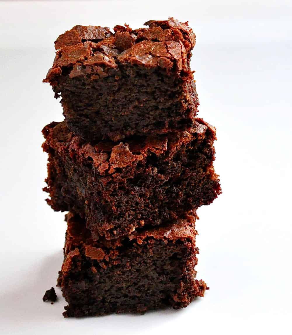Dark Chocolate Beet Brownies stacked