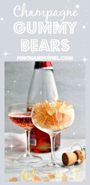 You can make homemade Champagne Gummy Bears with just 3 ingredients in less than 30 minutes!