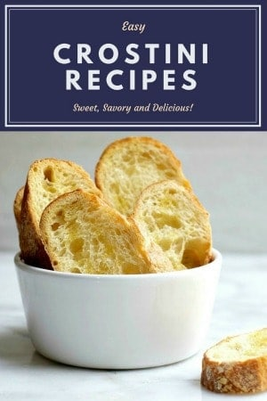 My favorite Crostini Recipes, both savory and sweet. Which one is your favorite?