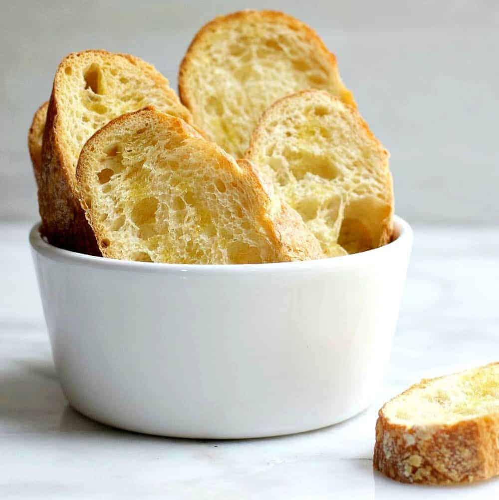 Crisp Crostini Served in a Bowl