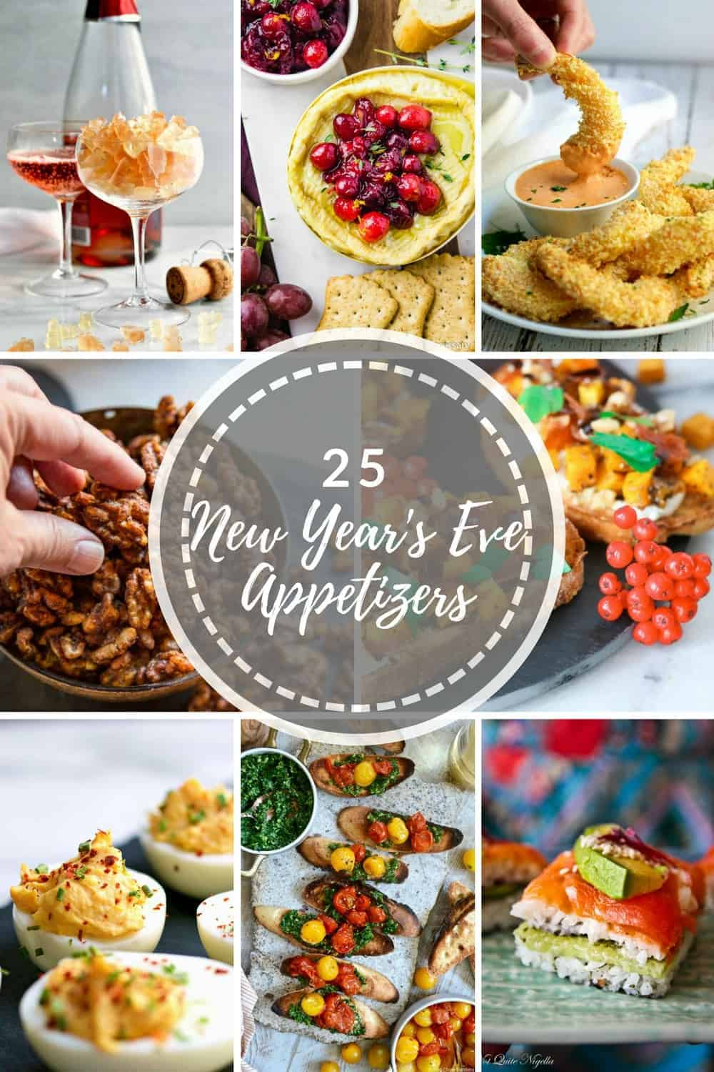 25 Easy New Year's Eve Party Appetizers + 5 Easy New Year's Eve Cocktails and the best tips for making your evening stress free!