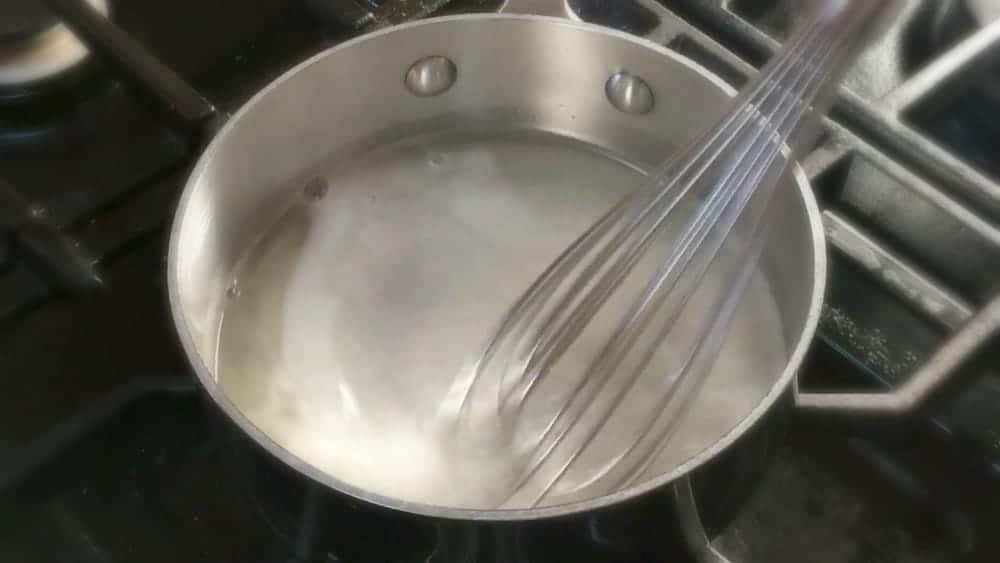 Whisking Until Sugar and Gelatin have dissolved