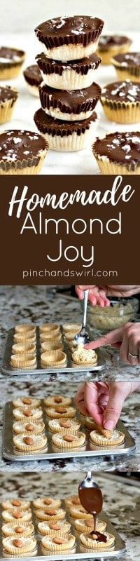 Homemade Almond Joy and Process Photos