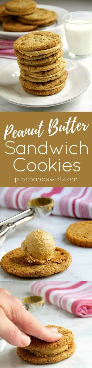 Peanut Butter Sandwich Cookies Pinterest pin