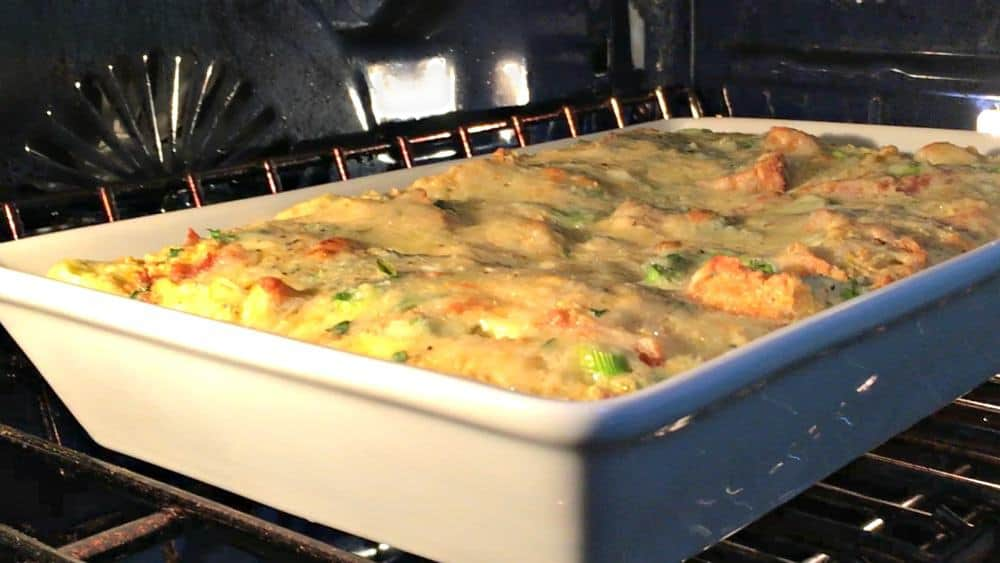 Baking Cornbread Pudding