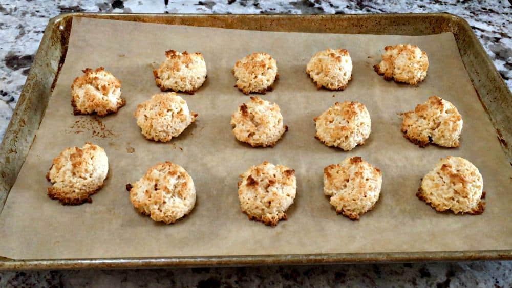 Coconut Macaroons Baked Until Golden Brown